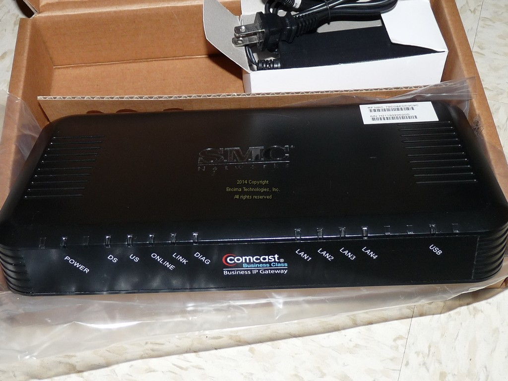 Comcast business ip Gateway Smcd3g manual